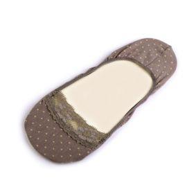Puntíkové ponožky do balerín Béžové