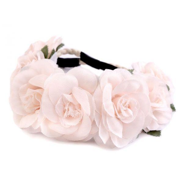 6c068de7546 Květinová čelenka do vlasů Růžové růže - foxstar.cz