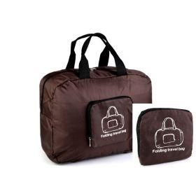 TRAVEL skládací cestovní taška Hnědá