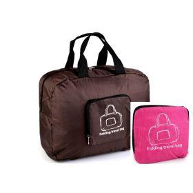 TRAVEL skládací cestovní taška Růžová