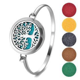 Ocelový náramek Strom života v pěti barvách