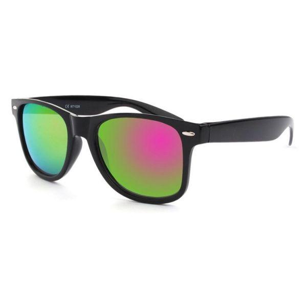 Sluneční brýle wayfarer zeleno růžové zrcadlovky