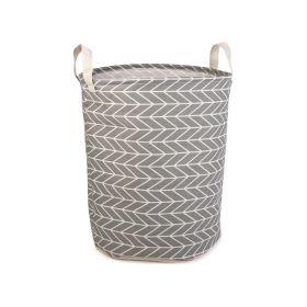 Plátěný koš na prádlo šedý 42L