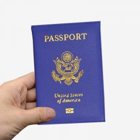 Pouzdro na cestovní pas USA  modré