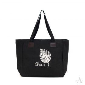 ArtOfPolo Plátěná taška přes rameno Černá