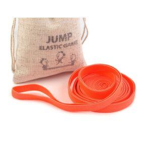 Skákací guma v lněném pytlíčku Oranžová