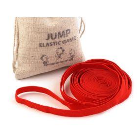 Skákací guma v lněném pytlíčku Červená