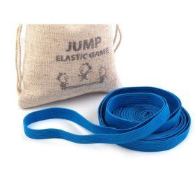 Skákací guma v lněném pytlíčku Modrá