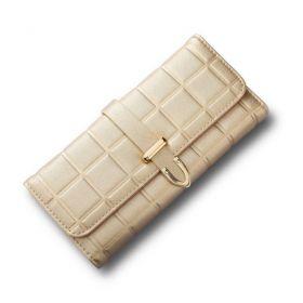 Dámská peněženka metalická zlatá