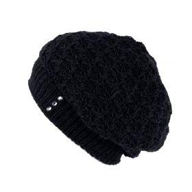 ArtOfPolo dámský pletený baret Černý
