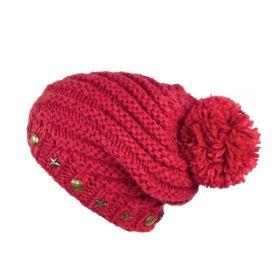 ArtOfPolo dámská zimní čepice Červená