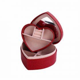 Šperkovnice na šperky Valentine červená