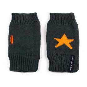 ArtOfPolo krátké rukavice bez prstů Star Tm. šedé