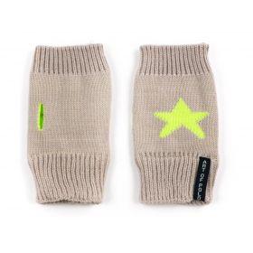 ArtOfPolo krátké rukavice bez prstů Star Hnědé