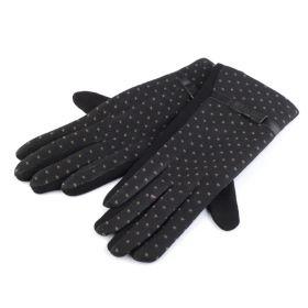 Dámské rukavice s puntíky Černé