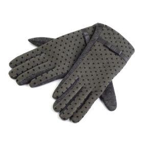 Dámské rukavice s puntíky Šedé