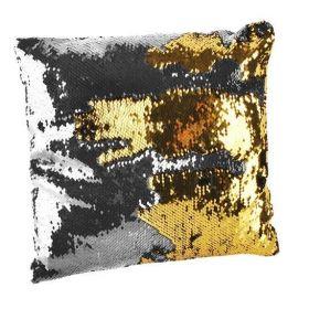 Polštář flitrový měnící 37x37 zlato-stříbrný