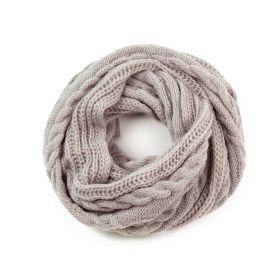 ArtOfPolo kruhový pletený šál Béžový