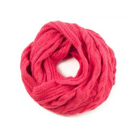 ArtOfPolo kruhový pletený šál Růžový