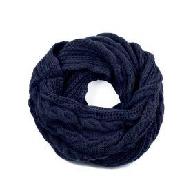 ArtOfPolo kruhový pletený šál Modrý