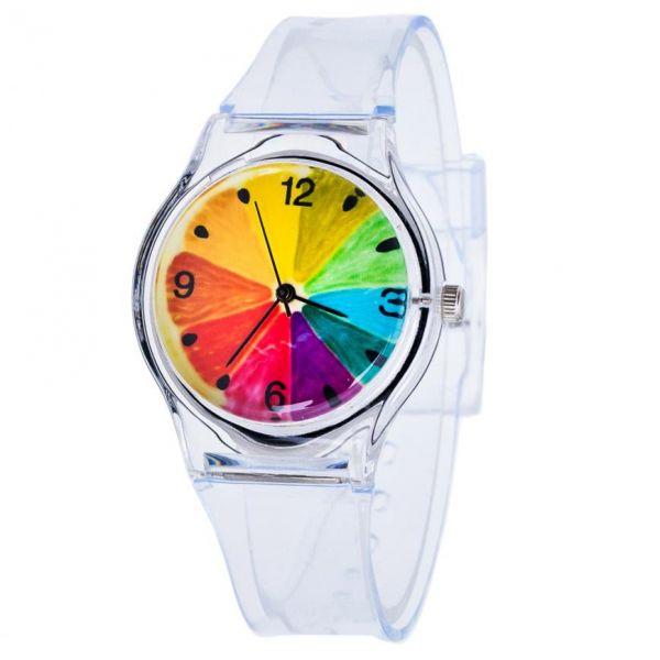 Dámské transperentní hodinky Funny Fruit