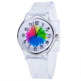 Dámské transperentní hodinky Funny Colours