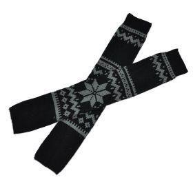 Pletené návleky na boty norská hvězda 57 cm