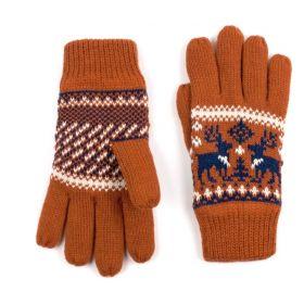 ArtOfPolo dámské rukavice se soby Oranžové