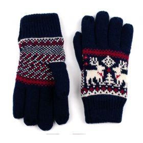 ArtOfPolo dámské rukavice se soby Modré