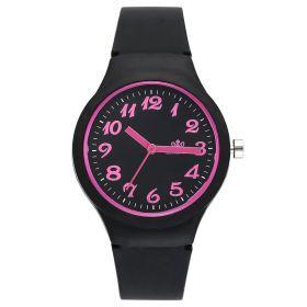 Dámské silikonové hodinky Jely Girl - černé