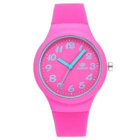 Dámské silikonové hodinky Jely Girl - růžové