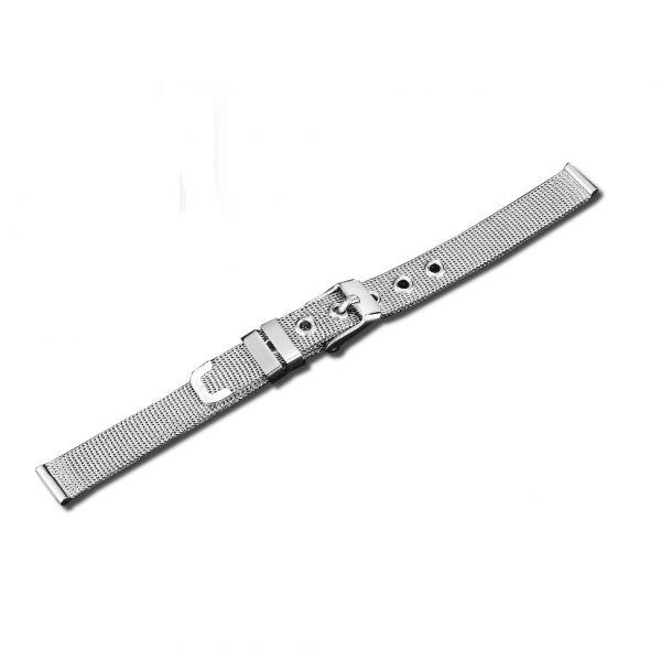 Síťovaný ocelový řemínek na hodinky 16 mm