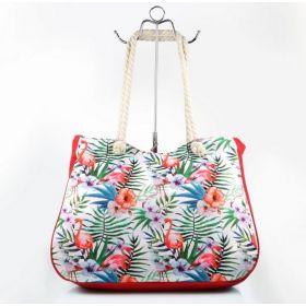 Plážová i nákupní taška Plameňáci barevný