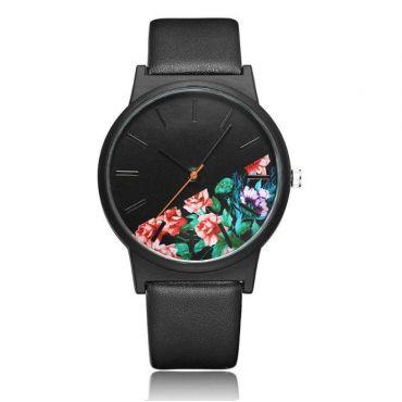Dámské hodinky Dark Floral Černý