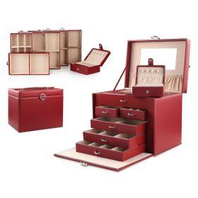 Stenberg Luxusní kufřík na šperky ETUI Červená
