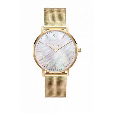 Classy dámské hodinky s opálovým odleskem Zlaté
