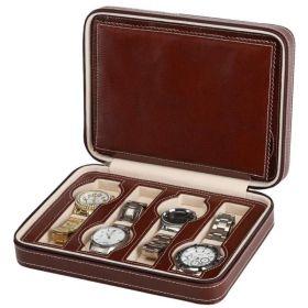 Úložný box na hodinky 8 komor Hnědý