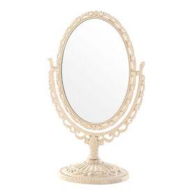 Vintage Zrcadlo oboustranné kosmetické otočné