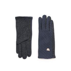 ArtOfPolo dívčí rukavice s medvídkem Šedé