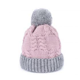 Dámská zimní čepice Polární den Růžová