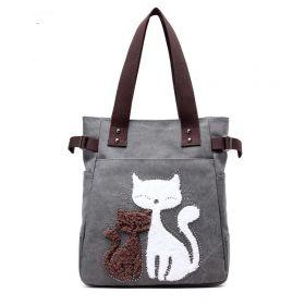 Dámská plátěná kabelka Street Cats - tmavě šedá