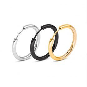 Ocelové náušnice kruhy 25 mm Hoop