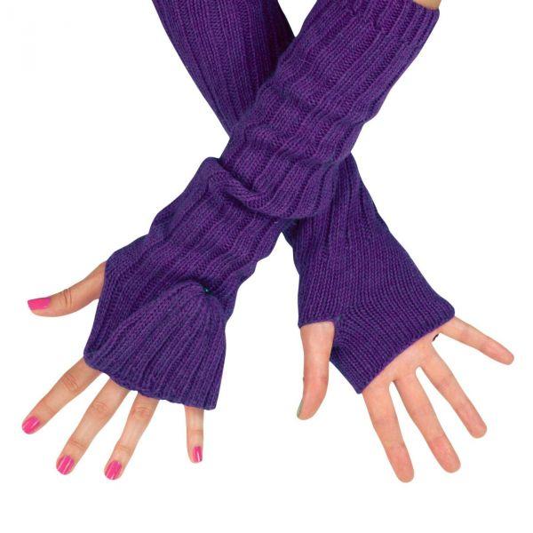 ArtOfPolo dlouhé rukavice bez prstů flip-flop Fialové
