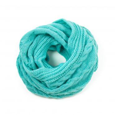 ArtOfPolo kruhový pletený šál Tyrkysový