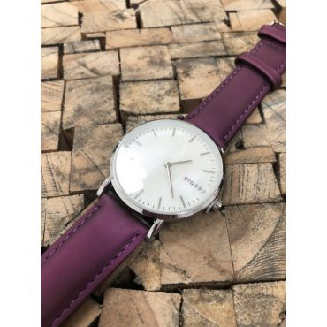 Classy dámské hodinky s opálovým odleskem Fialové