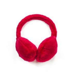 Plyšové klapky na uši Červené