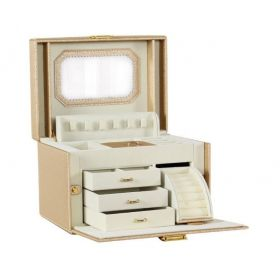 Stenberg Luxusní kufřík na šperky ETUI Zlatá