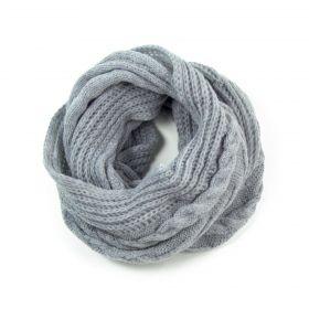 ArtOfPolo kruhový pletený šál Sv. šedý