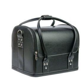 Luxusní taška pro kosmetiku Leona černá