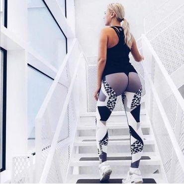 Dámské Sportovní legíny Fitness Levhart